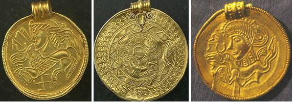 Золотые брактеаты Скандинавии с краткими руническими надписями